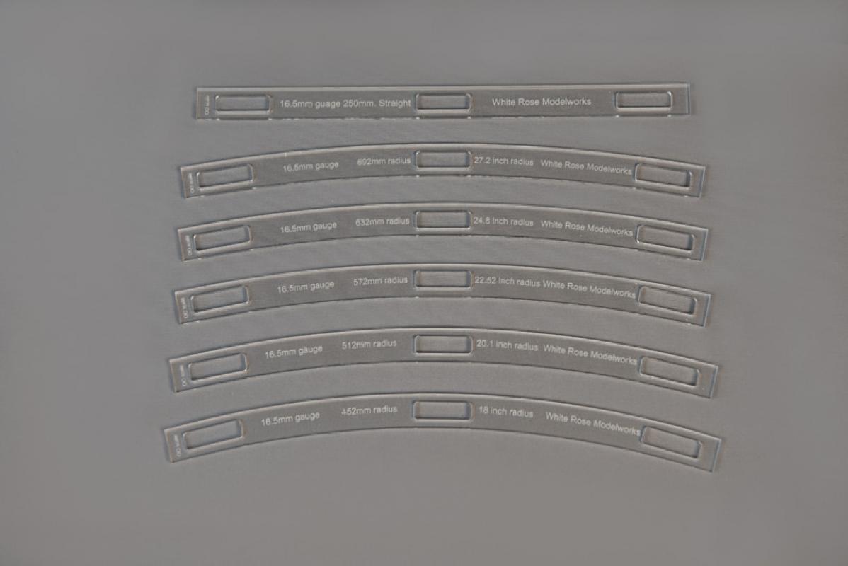 16.5mm Gauge Track Radius Slides